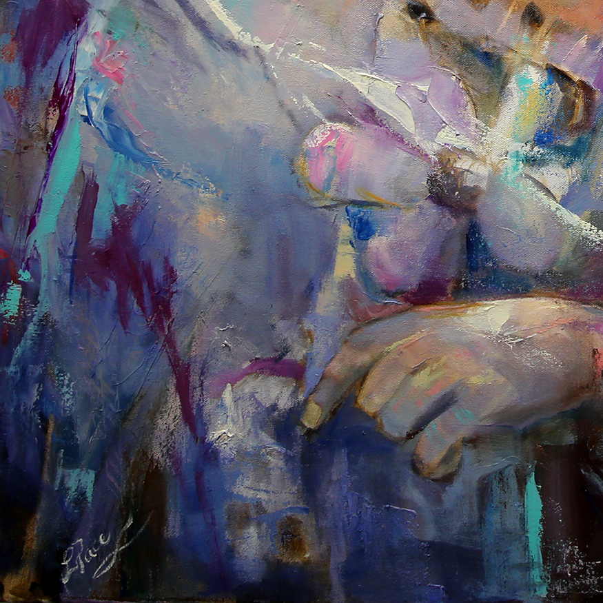a6 detail  Angel Tears 36 x 36 x 1.75 Oil on Canvas Laurie Justus Pace Pure Justus Collection.png