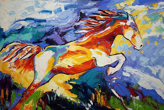 FB Blog Eurus in Flight  32 x 48 inches Oil on Canvas Laurie Pace Pure Justus Collection.png