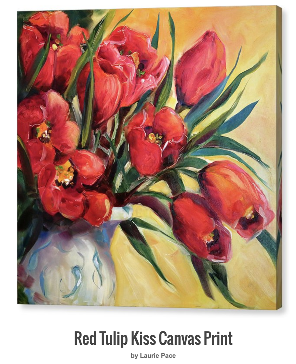 Red Tulip Kiss fine art Giclee Print by Laurie Pace.jpg