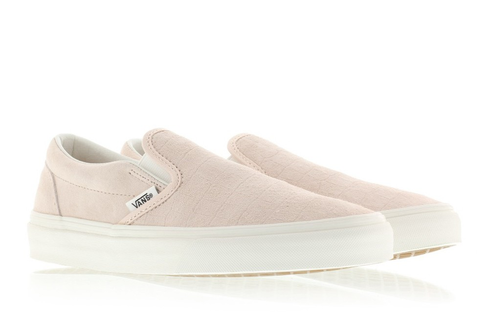 c8840b84b889 Vans releases a brand new version of the Vans Classic Slip-On. The sneakers  are available in light pink. The sneakers are now available via Titolo and  ...