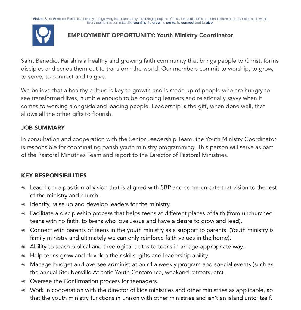SBP Job DescriptionPg1 - Youth Min Coordinator.jpg