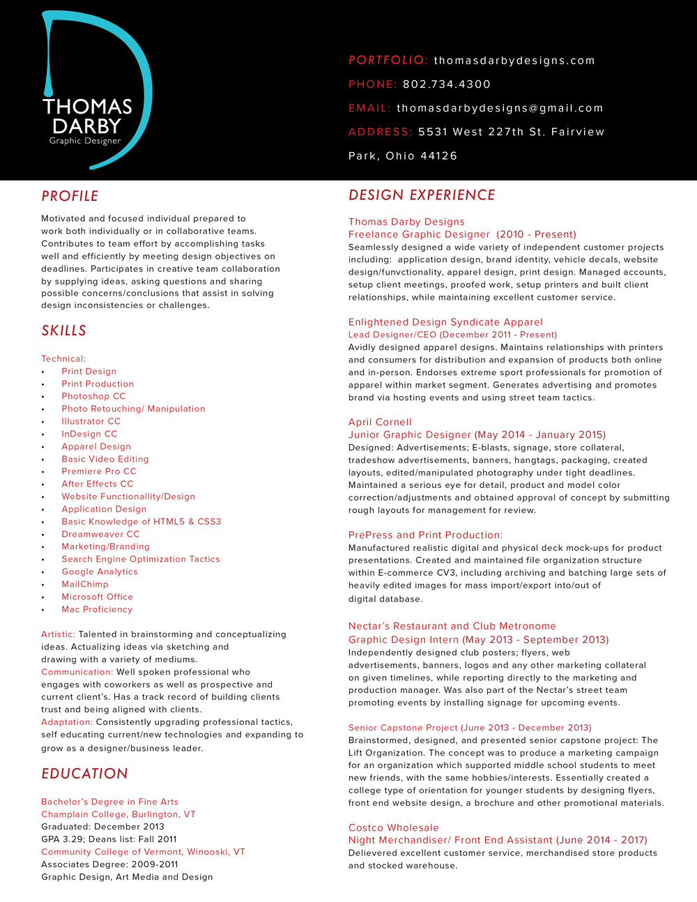 digital artist resumes