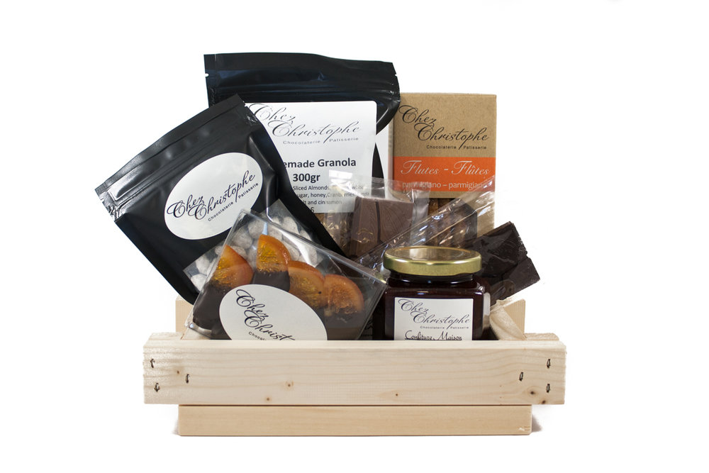 Gift Baskets - Our newest addition to the collection, our gift baskets come in two sizes, at the $55.95 and $89.95 price point.Please contact us for more information and how we can personalize it for you or work in your budget.