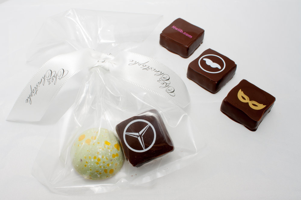 Looking for an extra touch? - Looking for an extra touch? Add your company's logo to our individual chocolates.
