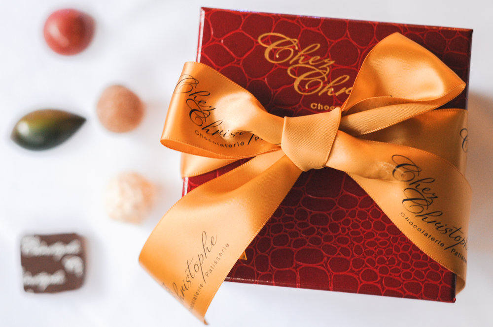 Chocolate Boxes - Sizes range from 7pc to 36pc boxes. Ask us how we can personalize individual chocolates with your company logo.