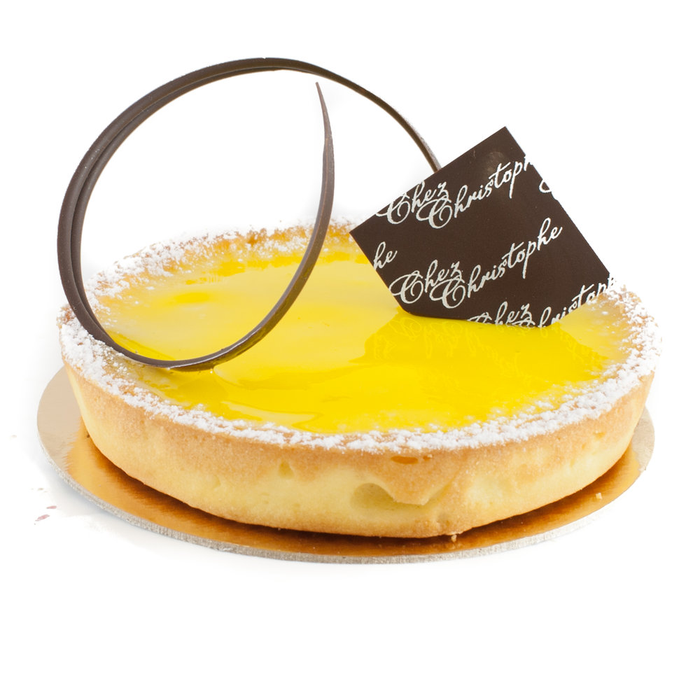 Tart au Citron - Lemon curd in a sweet pastry baseNut FreeAvailable in:4-5 servings (round) $21.956-7 servings (round) $25.958-9 servings (rectangle) $31.958-9 serving size requires 3 days' notice