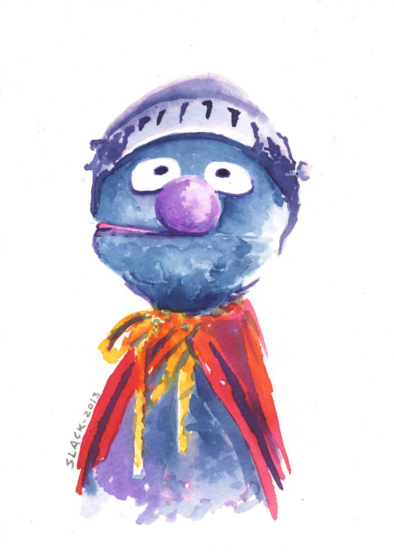 """Super Grover"" by Doug Slack ( etsy shop )"