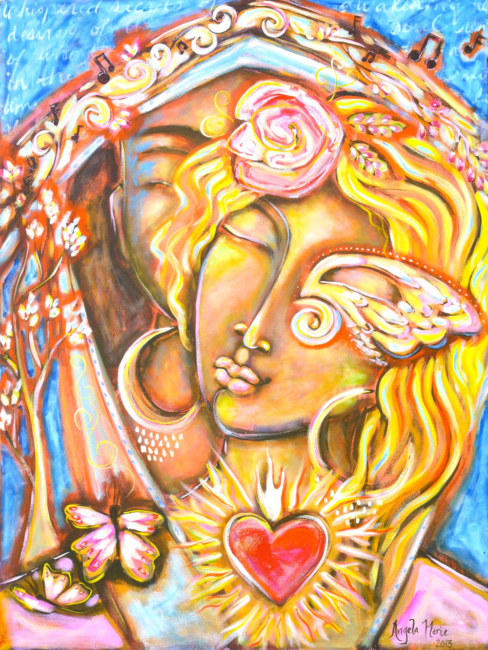 Divine Lovers  acrylic on canvas  30 x 40
