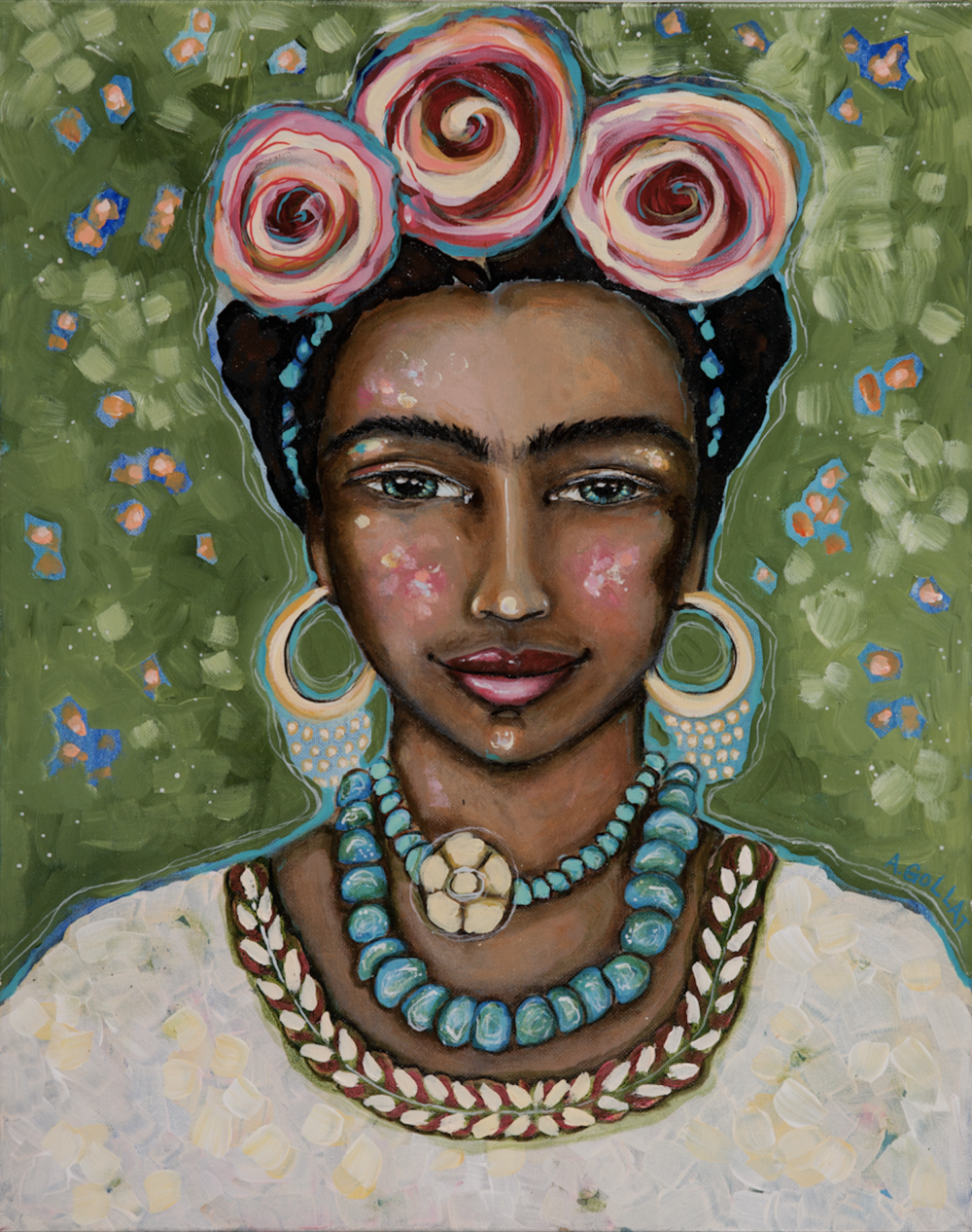 Frida  acrylic on canvas  18 x 24