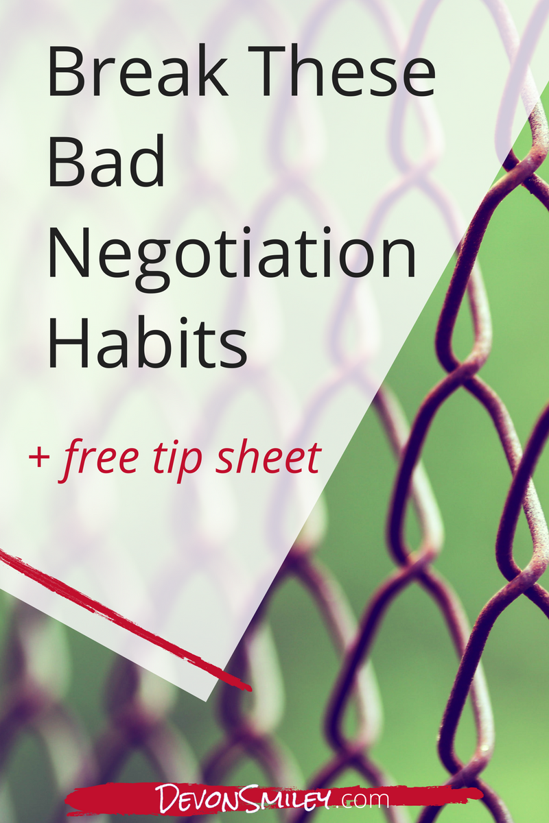 bad habits negotiation entrepreneur