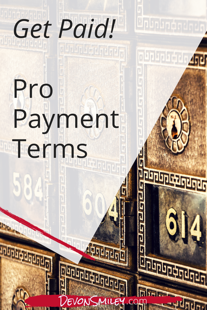 what payment terms do i need in my contract