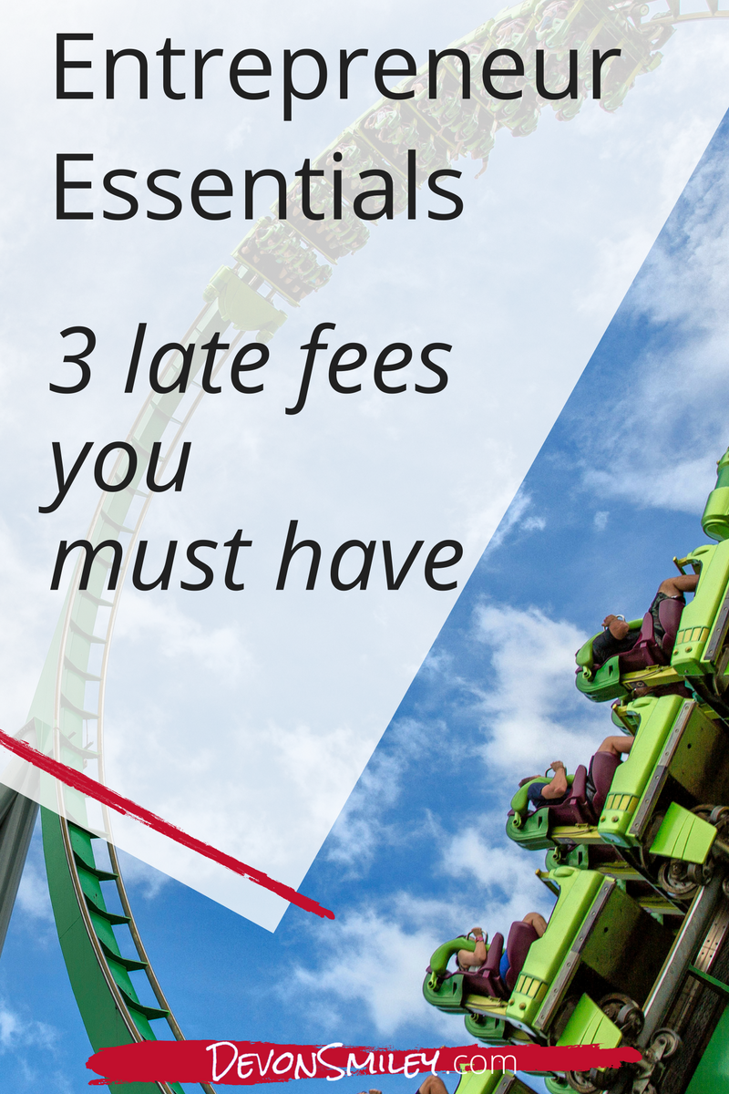how do you charge late fees to clients
