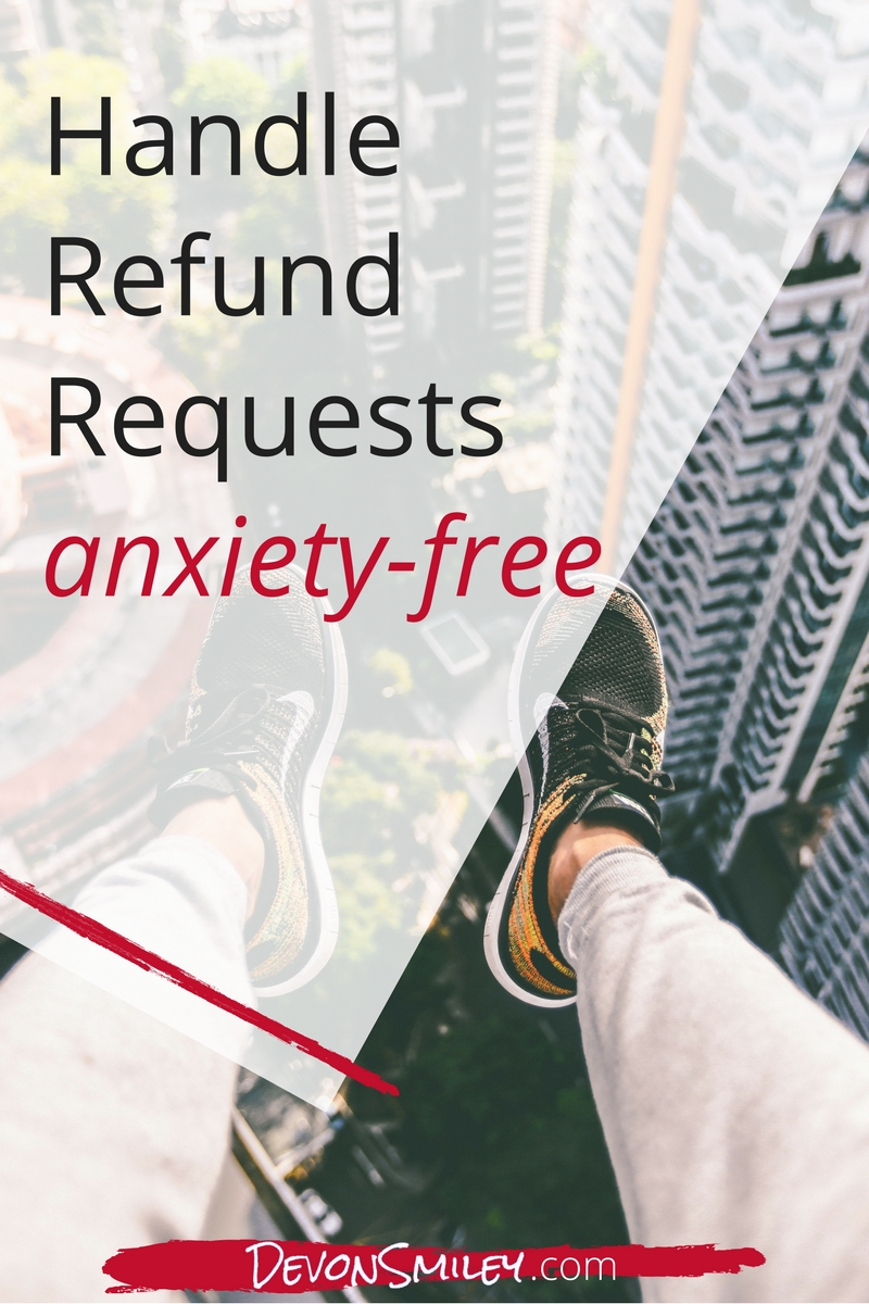 how to handle a refund request