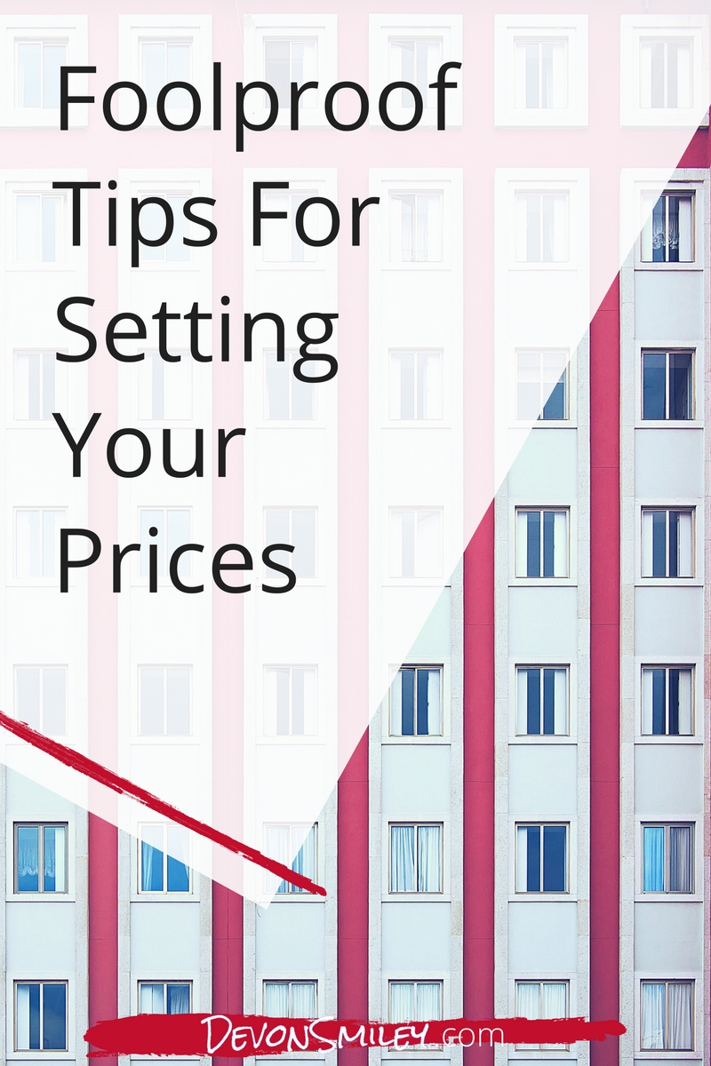 setting prices in your small business