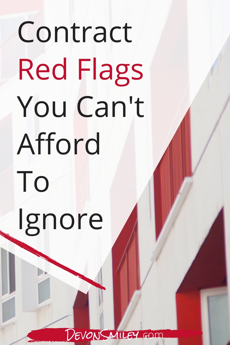 contract red flags