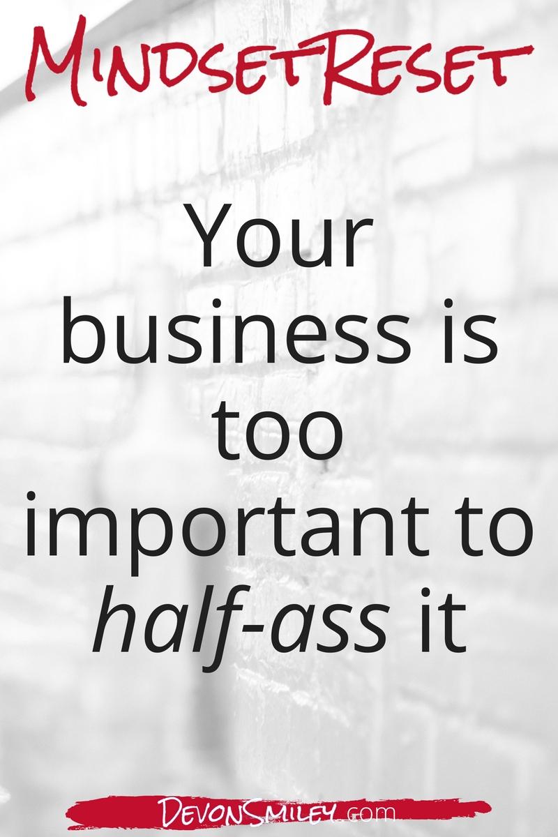 reset your entrepreneur mindset