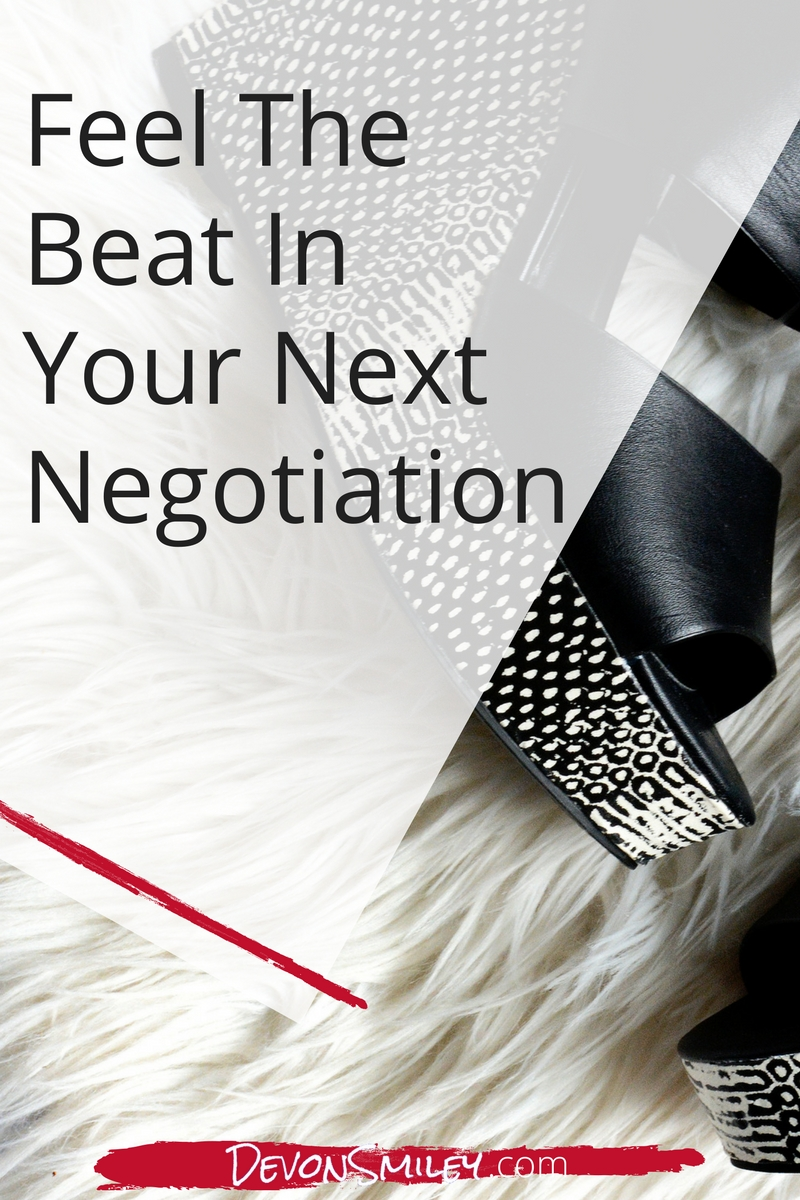 find your negotiation rhythym