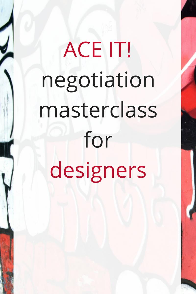 negotiation skills for web designers, graphic designers, social media designers