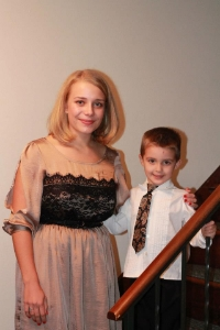 Anna with her little 'brother' Jesse, her date for homecoming