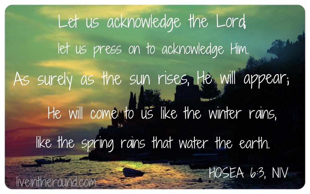 As Sure As The Sun Hosea6:3