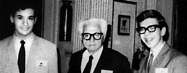 Louis Black (L), ? (C), Leonard Maltin (R)
