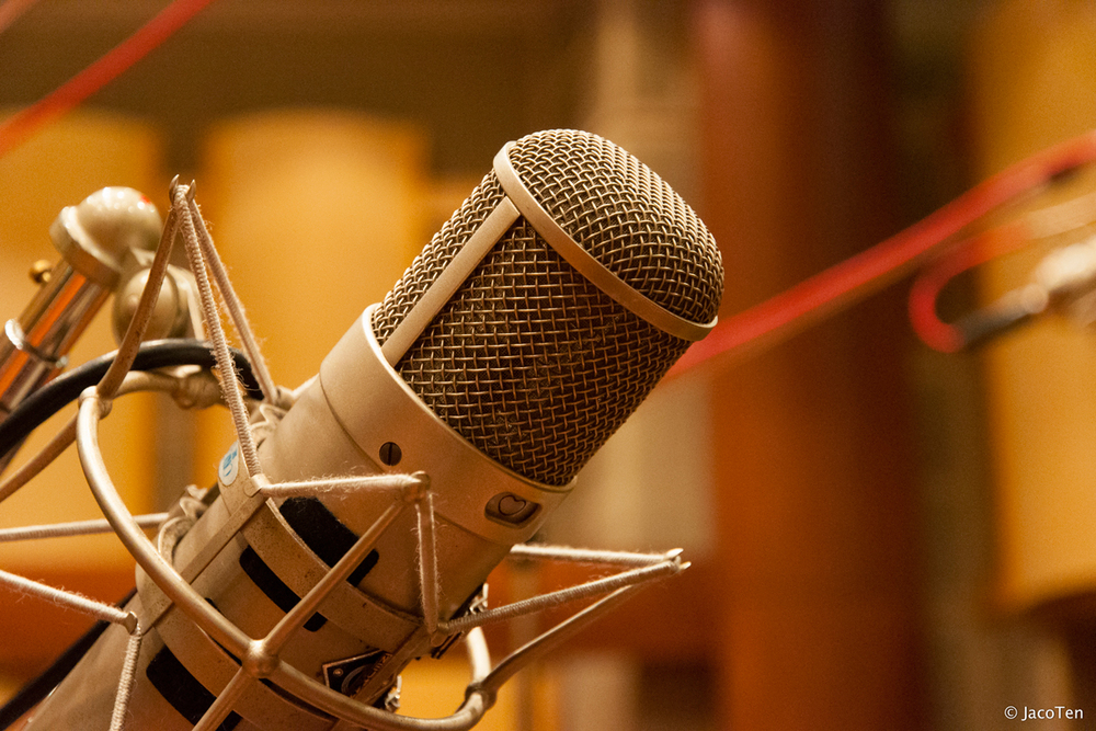 "Not my actual mic. I use a TLM-103. Photo credit: ""Neumann U47 Tube"" by JacoTen"