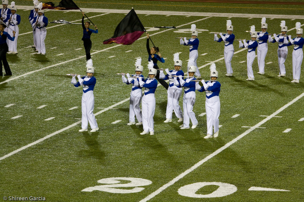 A marching band from my actual high school. Photo credit: Shireen Garcia