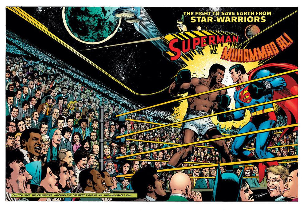 Neal Adams'Superman vs Muhammad Ali, one of his many recolored classics