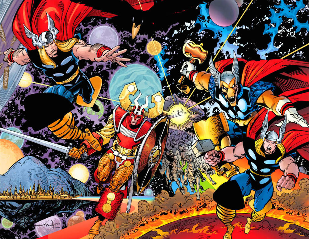from the re-colored Thor by Walt Simonson Omnibus
