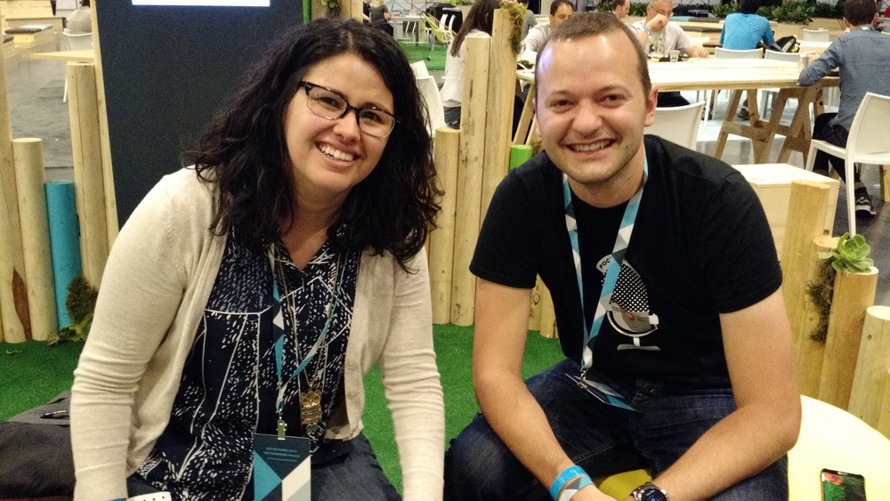 Yasmine and Russell at Google IO 2015