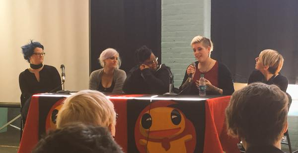 from left: Emily Nagoski, Jess Fink, Spike Trotman, Kate Leth, Danielle Corsetto photo credit: the magnificent and inimitable The Doubleclicks on Twitter