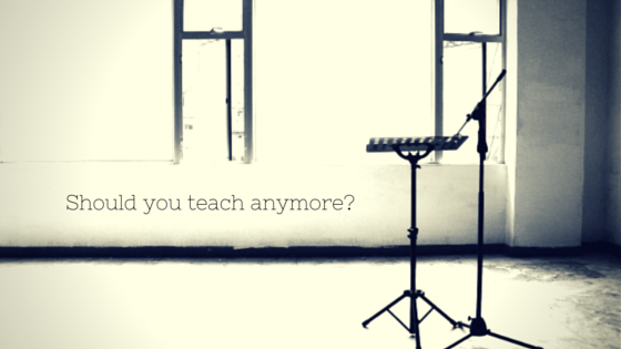 should you teach