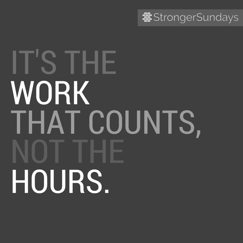 """""""It's the work that counts, not the hours.""""     Inspired by Jason Fried's and David Heinemeier Hansson's book,  """"   Remote: Office Not Required   """".  [link]"""