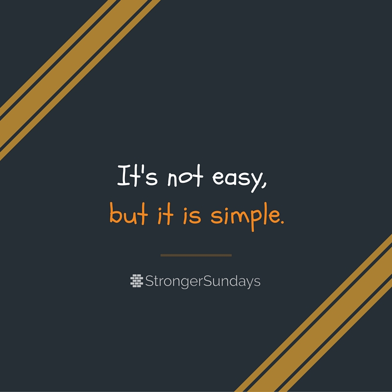 Not Easy, But Simple