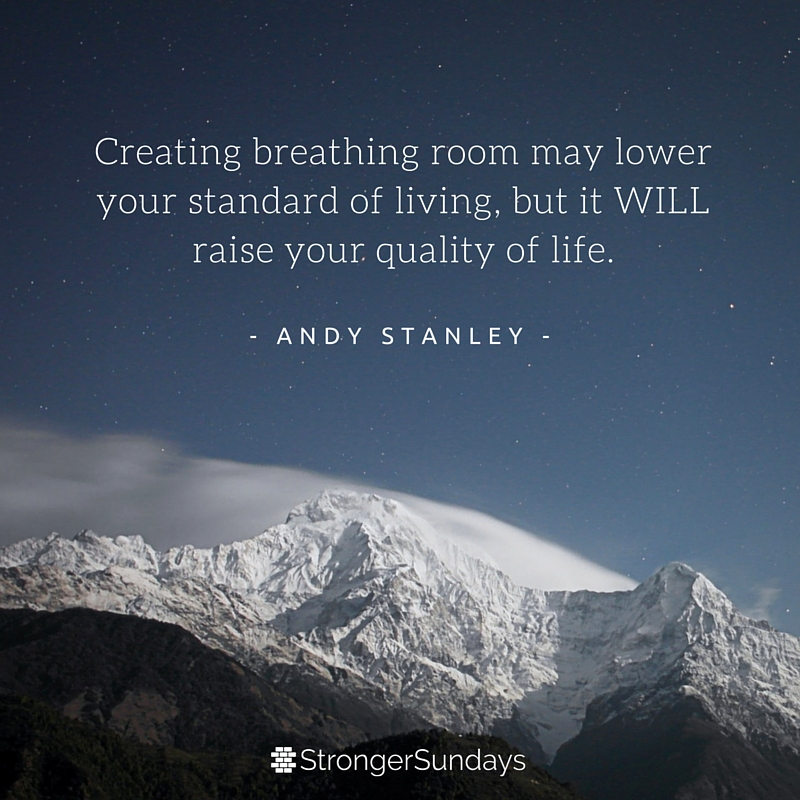 Creating breathing room...