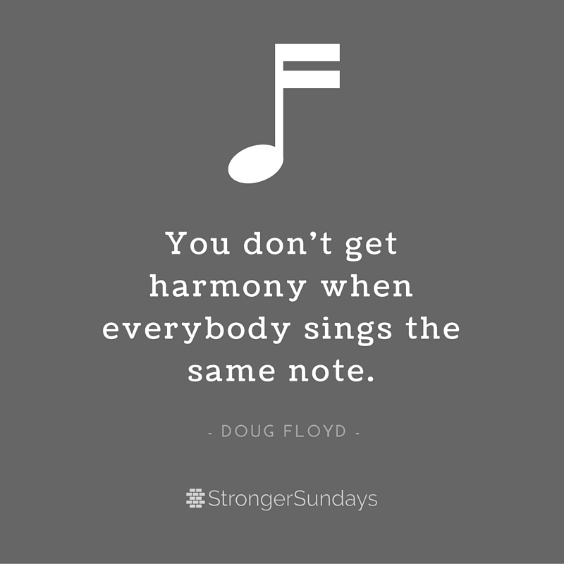 You don't get harmony...