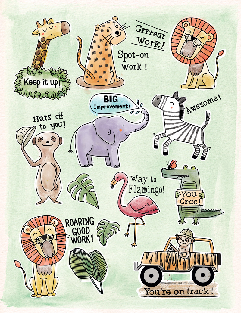 Safari Friends - Stickers