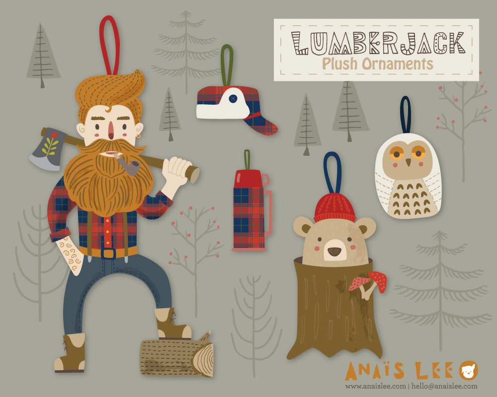 Lumberjack Ornaments