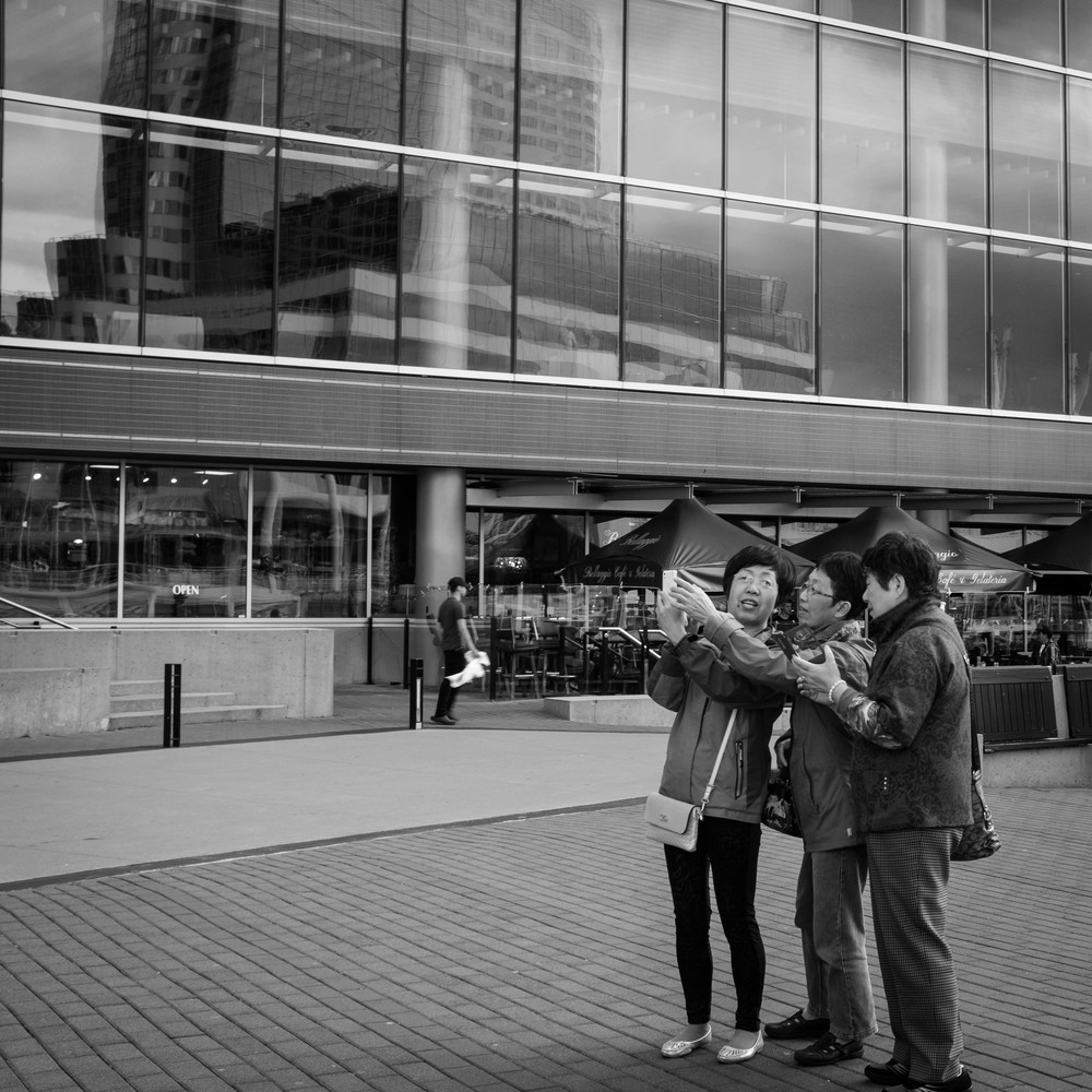 Tourists at Canada Place Vancouver Fuji X100T 6.16