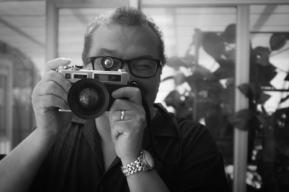 Ron with  Yashica Electro  North Vancouver Fuji X100T 6.16
