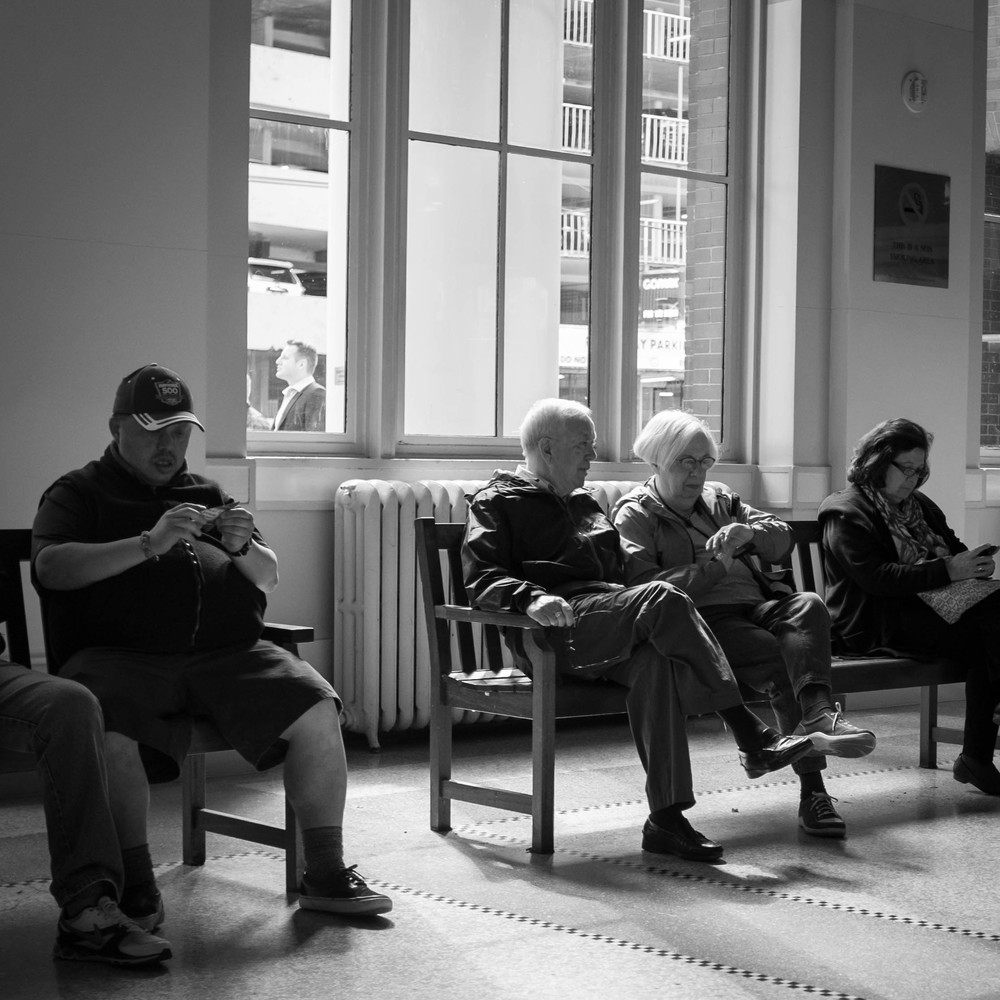 Killing time Waterfront Station, Vancouver Fuji X100T 5.16