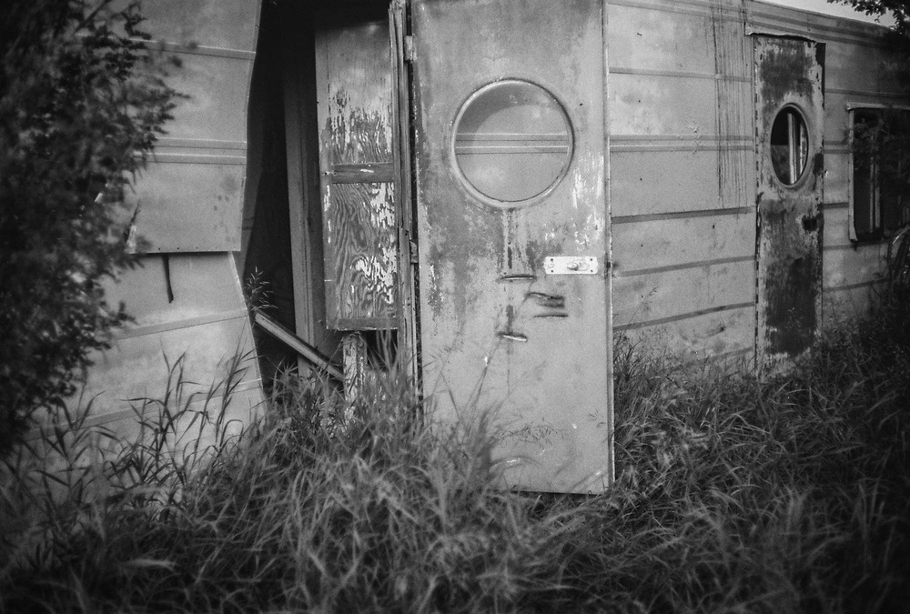 Abandoned trailer Bulwark, Alberta Leica M3, Canon 50mm F1.4 Ilford Pan F Plus 50 film 7.16