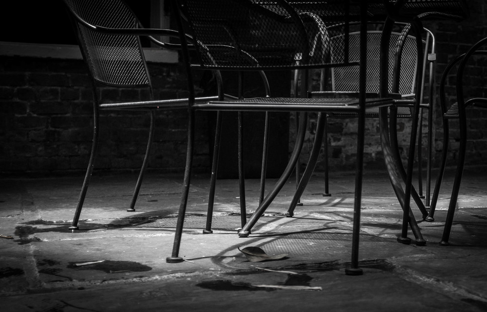 Patio shadows New Orleans, LA Fuji X100T  6.16