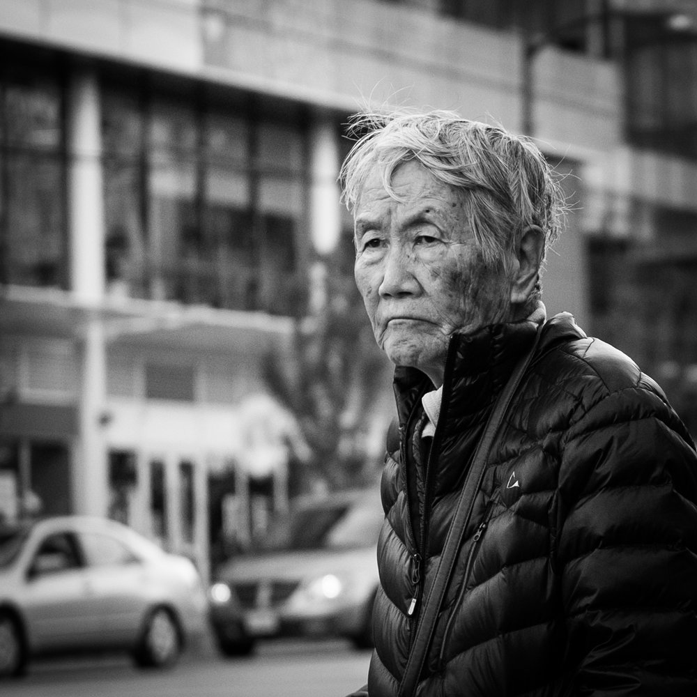 Man on W. Broadway Vancouver Fuji X-T2 35mm F2 11.16