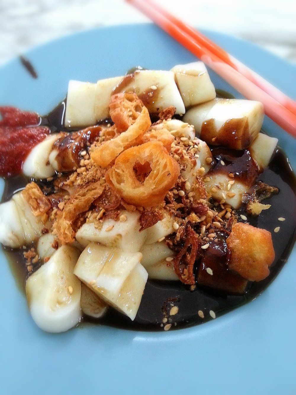 Penang street food char koay cakoi chee cheong fun