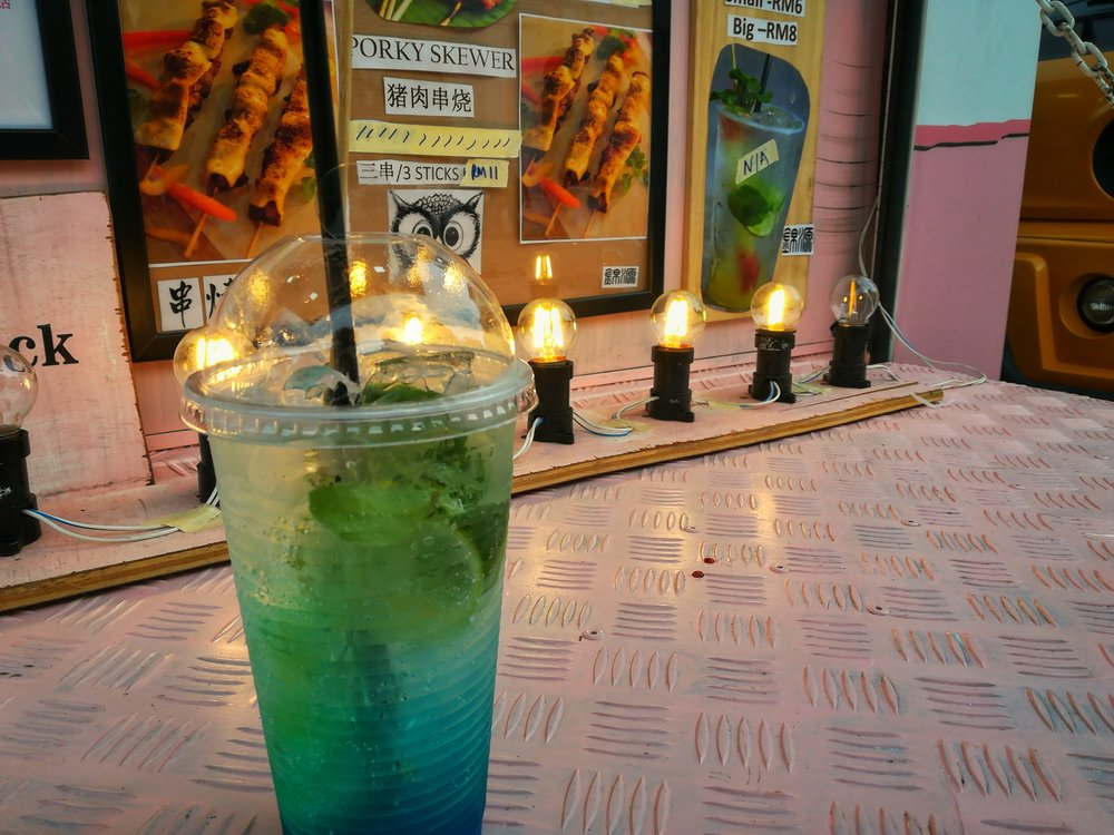 The Monday Blue mocktail was delicious and appropriately named :P