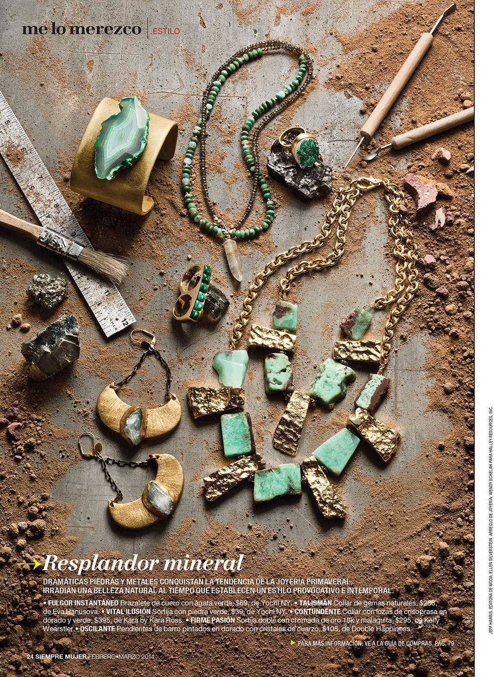 Photography: Jeff Harris  Jewelery: Ellen Silverstein  Prop Styling: Sarah Guido for Halley Resources