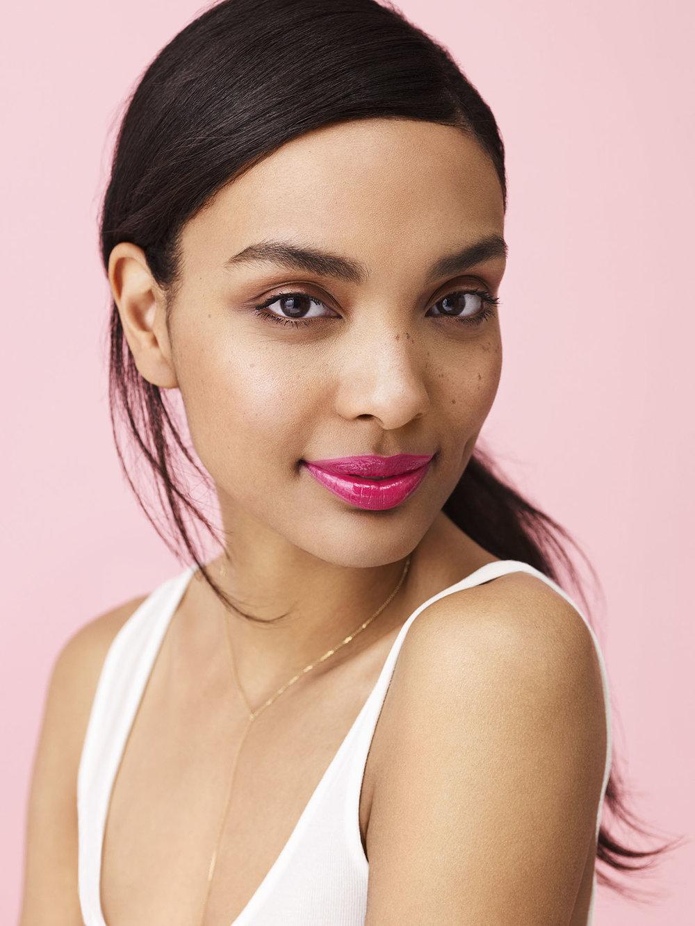 Photo: Nadya Wasylko  Hair: Jeanie Syfu  Makeup: Suzy Gernstein  Wardrobe: Morgan Gibbons  Manicure: Yukie Miyakawa  Model: Jo Elias