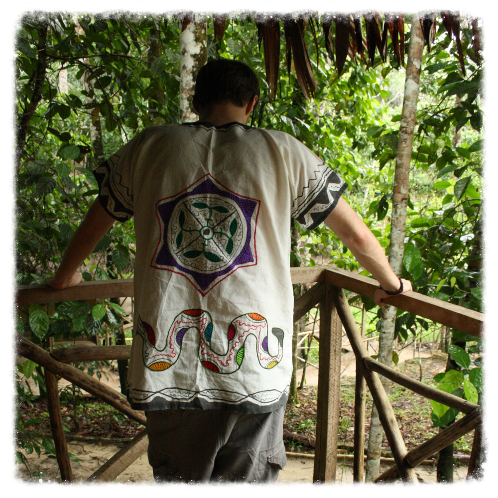 Here I am in deep contemplation after having gone through seven, very intense, ayahuasca ceremonies in the Amazon.