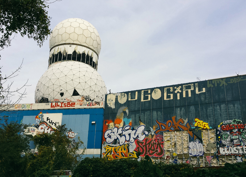 Outside of  Teufelsberg Station